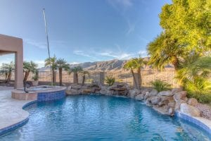 Ahwatukee pool and spa with views